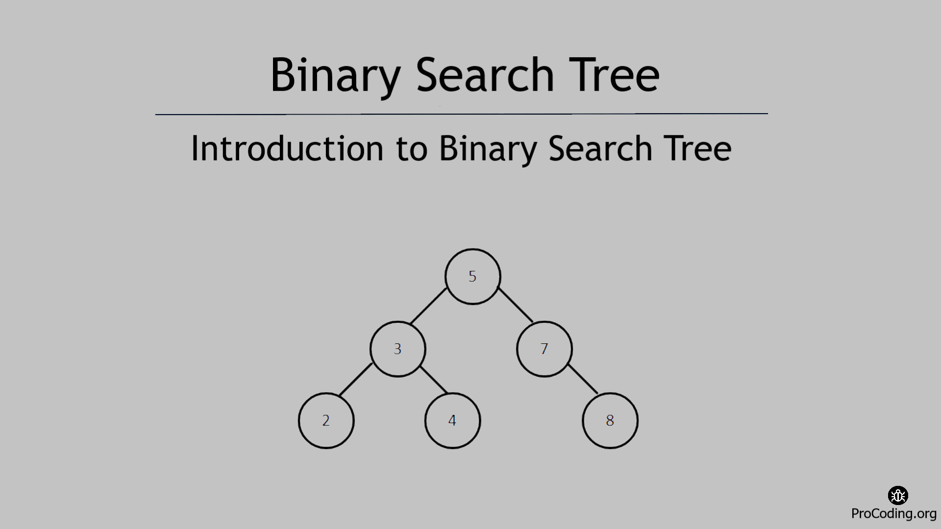 Introduction to binary search tree